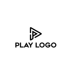 p play logo design inspiration vector image