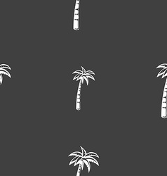 Palm sign Seamless pattern on a gray background vector