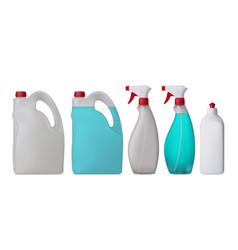Plastic bottles set vector