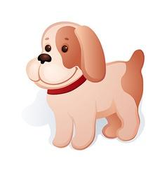 Plush puppy vector