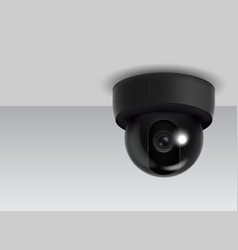 realistic detailed 3d ceiling cctv security camera vector image