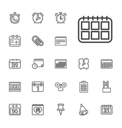 Reminder icons vector