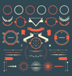 Retro design elements collection vector image