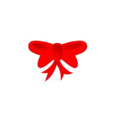 Ribbon christmas atribute logo vector