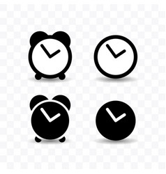 set of clock icon simple flat style vector image