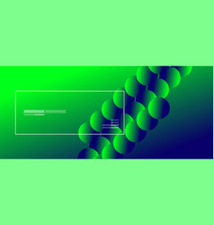 Simple abstract background with neon color circles vector