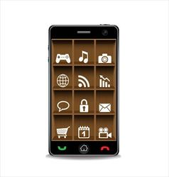 Smartphone and applications icon vector image