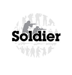 Soldier black text frame background vector