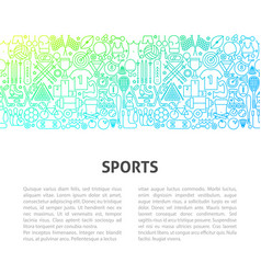 sports line design template vector image