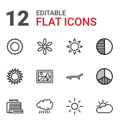 Sunset icons vector
