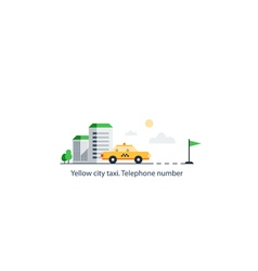 Taxi cab delivery vector image