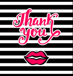 Thank you bright card in retro pop art style vector