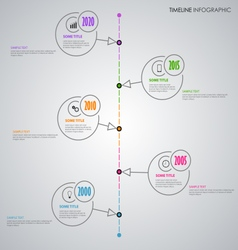 Time line info graphic with thin line circular vector