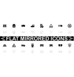 trains - flat icons vector image