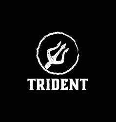 Trident neptune god poseidon triton king spear vector