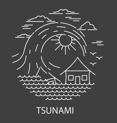 tsunami natural disaster vector image