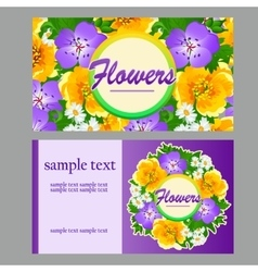 Two colorful card for your business needs vector