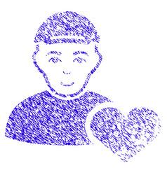User favourites heart icon grunge watermark vector