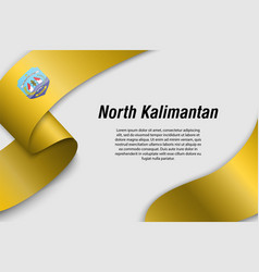 waving ribbon or banner with flag province vector image