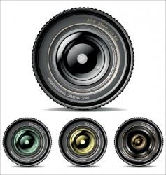 camera lens set vector image vector image