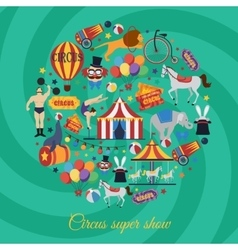 Circus Super Show Icons vector image