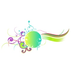 colorful abstract floral frame vector image vector image