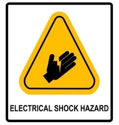 Electrical Shock Hazard symbol vector image vector image