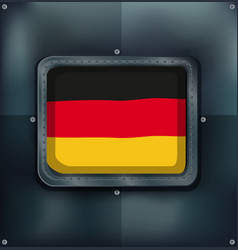flag of germany on metalic frame vector image