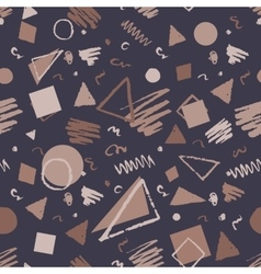 Vintage seamless geometric pattern vector image vector image