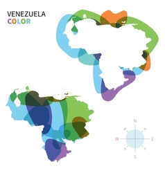 Abstract color map of venezuela vector