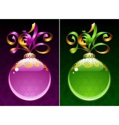Christmas and New Year circle frame vector image vector image