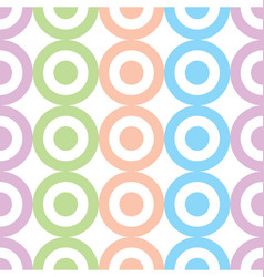 Circles and dots pastel colors seamless pattern vector
