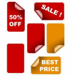 color sale sticker set vector image vector image