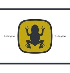 Flat icon amphibian frog card vector