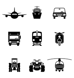 Vehicle transport signs vector image vector image