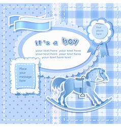 Baby shower for boy vector image