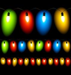 Christmas lights seamless vector image vector image