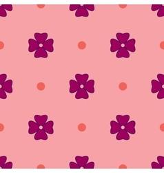 Flowers geometric seamless pattern 1605 vector image
