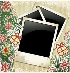new years photo frame vector image vector image