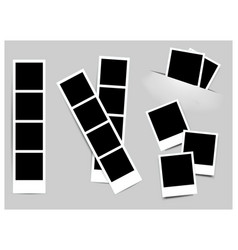 photo frame white plastic border on a white vector image vector image
