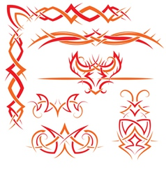 set of Gothic patterns vector image vector image