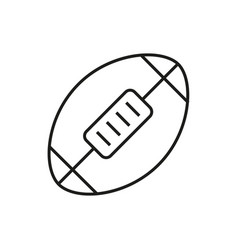 american football ball icon on white background vector image vector image