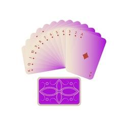 card fan vector image