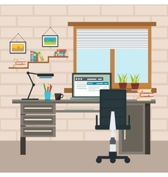 Designer Working Place Composition vector image vector image