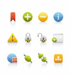 icon set internet and communications vector image vector image
