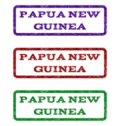 papua new guinea watermark stamp vector image
