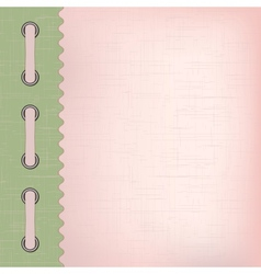 Pink cover for an album with photos vector image
