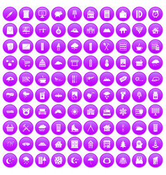 100 windows icons set purple vector