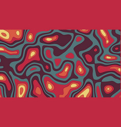 3d cut out abstract background vector image