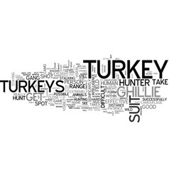 a few hints for turkey hunters text word cloud vector image